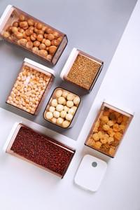 Бутылки для хранения JARS 2021 Прямоугольная пищевая герметичная резервуар Trend Multi-Speciation прозрачная однослойная коробка