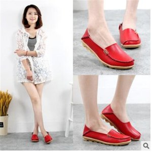 Comfortable Iron buckle casual mother shoes single white female leather shoe flat heel nurse large size women's 44