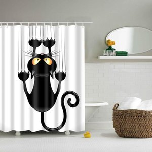 Shower Curtains 180x180cm The Cartoon Bathroom Fabric Curtain Waterproof Polyester With 12 Hooks