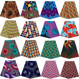 Africa Nigerian Prints Batik Fabric Real Wax Patchwork Sewing Craft Loincloth Polyester High Quality Ankara Designer Tissu