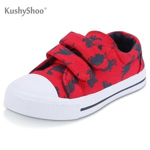 KushyShoo Toddler Sneakers for Boys and Girls Cartoon Dual Hook and Loops Sneakers Baby Canvas Shoes 210726