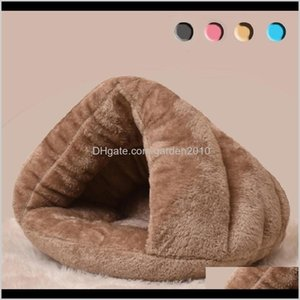 Kennels Pens Cat Pet Cotton Teddy Rabbit Bed Snow Rena Basket For Small Medium Dog Soft Warm Puppy Beds House 201124 Flxui X0E2E