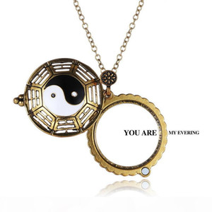 New Design Women Man Reading Glass Crystals Neckalce Magnifying Glass Pendant Fashion sweater necklaces with box necklaces