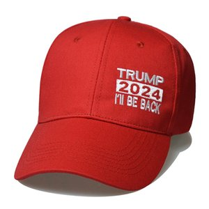 US Presidential Election Cap Trump 2024 Hat Trump Letters Baseball Ball Caps Keep America Great I'll Be Back Snapbacks Peaked Cap 1123 V2