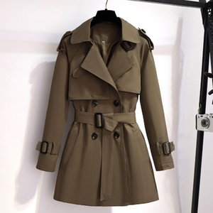 New Spring Autumn Women Trench Coat Korean Casual Loose Ladies Windbreaker Long Section Belt British Style Overcoat 4XL Y525