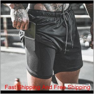 Mens Running Sports Shorts Male Quick Drying Training Exercise Jogging Gym With Builtin Pocket Liner Gmjcx Paqis
