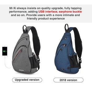 Men One Shoulder Backpack Women Sling Bag Crossbody USB Boys Cycling Sports Travel Versatile Fashion Student School