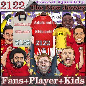 2122 LVP Fsan player version soccer jerseys MANé VIRGIL THIAGO DIOGO J Gerrard M.SALAH Smicer Alonso Hamann men kids suit BARNES KUYT Cisse 21 22 Football Shirt