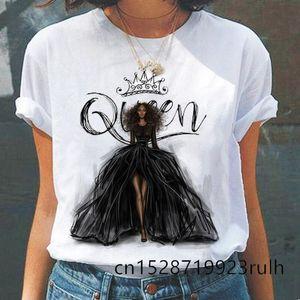 Vogue Fashion Queen Graphic Printed Women T-Shirt Summer Short Sleeve Tshirts Ladies Casual Harajuku Cartoon Tops Women's