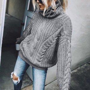 Women New Fashion Solid Knitting Turtleneck Sweaters Long Sleeves Blouse Sweater Womens Turtleneck Oversized Sweater Jumper