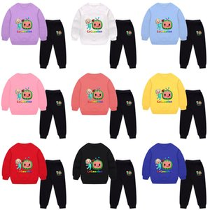 2021 Autumn Winter Cartoon Cocomelon Children's Tracksuit JJ Boys Baby Loose Long Sleeve Sweatshirts + Pants Two-piece Suit Casual Sports Clothes G97LOAN
