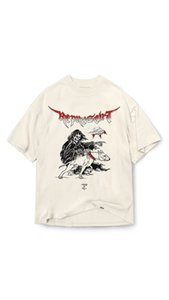 20ss hip hop Kanye represent death made old print high street wash men's and women's Short Sleeve T-Shirt