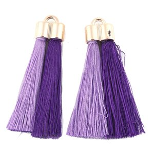 Gold Tassel Black Two-color Coon FridayTrendy Trinket Fashion Pendant Jewelry Accessories for Women DIY Earrings Handmade Jewelry Gift New