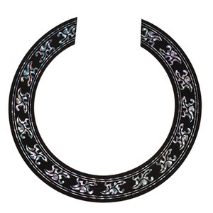 50 Pieces Wholesale Soundhole Rosette Decal Sticker for Acoustic Classical Guitar Parts with Chrome Pattern