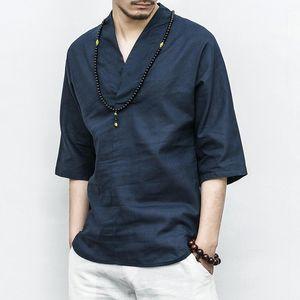 Kimono Men Japanese T-Shirt Traditional Asian Costume Male Yukata Haori Streetwear Mens Jacket SL3895 Ethnic Clothing