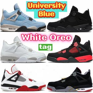 Shoes 2022 Infrared JUMPMAN 4 4s Womens Mens Trainers White Oreo Sail Off Shimmer Black Cat Travis Scotts Court Purple Sports Sneakers University Blue