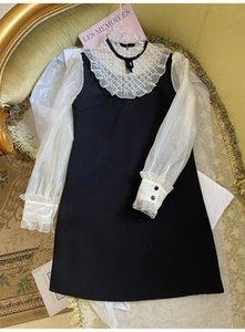 Milan Runway Damen Kleid 2021 Organza Rüschen Lange Ärmel Frauen Kleider Luxuriöse Kristalle Perlen Vestidos de Festa 72414