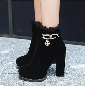 size 33 to 42 43 chic comfortable platform chunky heels ankle booties luxury designer women boots come with box