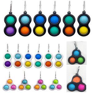 Silicone Push Bubble Fidget Toy Party Gifts Sensory Autism Kids Adult Antistresse Fidgets Toys Simple Dimple Among US Pop It HH21-192