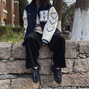 Fashion NO.1Nigo human made new woolen leather sleeve Baseball Jacket men's and women's short jacket fashionYLR{category}
