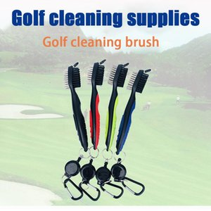 Golfs Club Cleaning Brush Double Sided Portable Putter Cleaner Accessories Tool MVI-ing Golf Training Aids