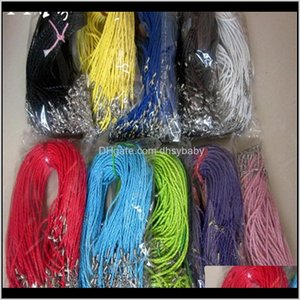 & Wire Multicolor Leather Rope Chain For Women Men Cord Diy Jewelry 100Pcs Lot Woven Necklace Sf2 6A1Qz 3Ixgy