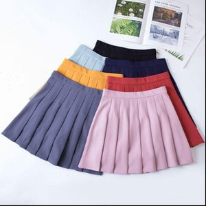 High Waist Women Skirts Chic Student Pleated Skirt Fashion Preppy Style Plaid Harajuku Uniforms Ladies Girls Dance