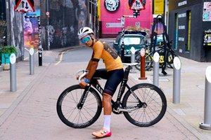 2021 летний мужской с коротким рукавом Велоспорт Jersey Set Skinsuit Jerse AmaLoT Bicycle ROPA Ciclismo Gel Pad LH010