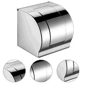 Toilet Paper Holders 1Pc Bathroom Holder Practical Roll Box For Home Silver