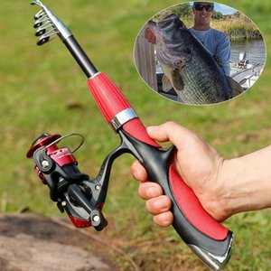 Rod Reel Combo Fishing And Set Casting Rods Light With Mini Reels Tackle