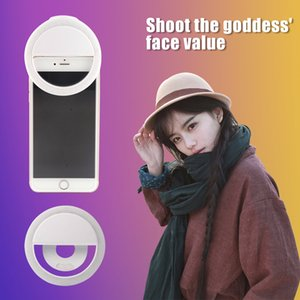 RK12 Rechargable LED Selfie Light Universal Lamp Mobile Phone Lens Portable Flash Ring For Iphone11 Samsung S20 Huawei P40 In Box