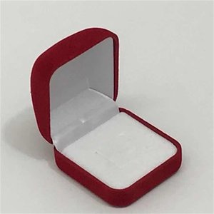 Wholesale 6Pcs Jewelry Display Box Red Black Blue Blocked Ring Jewelry Organizer Box Ring Package Storage Gift Box 5*5.8*3.5CM 917 Q2