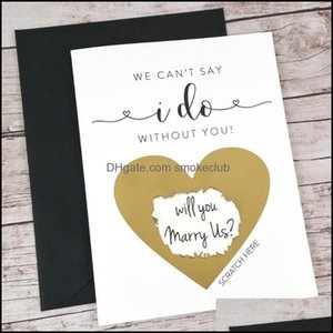 Greeting Cards Event Festive Party Supplies Home & Gardenprint Any Language Scratch Off Card,Will You Be My Bridesmaid Card,Bridesmaid Propo