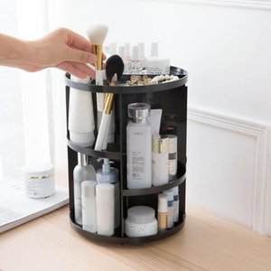 Rotating Makeup Organizer Cosmetic Storage Box Brushes Lipstick Holder Jewelry Container Case Desktop Boxes & Bins