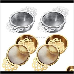 Empress Strainers Drip Bowls Mesh Infuser Stainless Steel Loose Leaf Tea Filter With Elegant Double Winged Handles Su2Qh Bpqkj