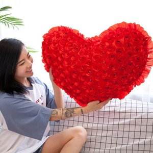 Wedding Supplies Gift Heart Red Pillow Student Dance Props Dormitory Home Bedroom Soft Lovely Back Cushion Skin-friendly F8257