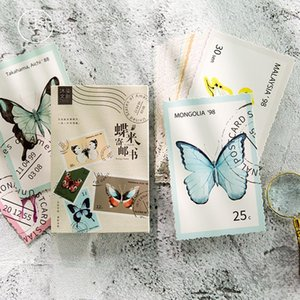 Bookmark 30pcs lot Butterfly Series Postcard Greeting Card Letter Paper Memo School Office Supplies