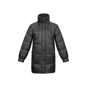 KISSQIQI 2020 Новая зимняя куртка с длинным рукавом полноценные на молнии с капюшоном пальто женщины мода женские тяжелые весовые качества abrigo