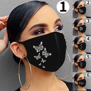 Women Jewelry Elastic Mask Fashion Sparkling Rhinestone Magic Scarves Reusable Washable Fashion Face Masks Bandana Riding