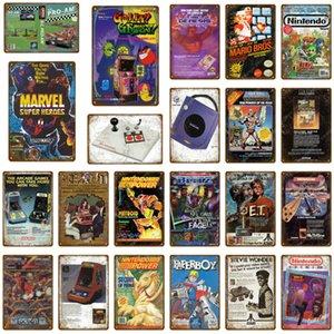 Sinais de Metal de Video Jogo Comic Play Gaming Metal Poster Adesivo de Parede Para Pub Bar Club Decoração Home Sega Vintage Retro Placa