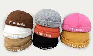 مصمم الأزياء القبعات قبعة القبعات القبعات الخريف والشتاء بيني قبعة للنساء 8 اختيار اللون