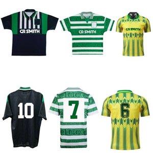 1994 1997 Glasgow Retro Jersey 94 95 96 97 Hooijdonk McStay di Canio Cadete Boyd Rudi Vata 89 91 Camisa de Futebol Vintage Clássico