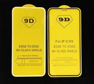 9D полная крышка клей Закаленное стекло телефон экран протектор для iPhone 12 Mini Pro 11 XR XS MAX 8 7 6 S