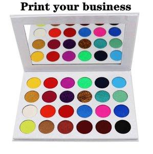 False Reelashes Print Logo 24 Цветной паллет мерцание красоты матовая матовая палитра век блеск глаз тень белая коробка водонепроницаемая длительная