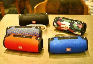 TG125 Bluetooth Speaker Drum Charge Protable Wireless com Strap Big Super Bass Subwoofers HiFi Music Player TF USB