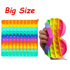 Big Size Pops It Push Bubble Fidget Toys For Schoolbag Pendant Hot Adult Stress Relief Toy Popit Squishy Kids Anti-Stress Gift