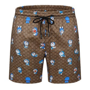 S2021 Tide brand printing trend Hawaiian men's short beach couple loose five-point casual pants sports