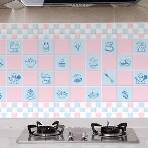 60x300 500cm Kitchen Oil-Proof Wall Sticker High Temperature Waterproof Countertop Tile Cabinet Refurbished Wallpaper Decoration Stickers