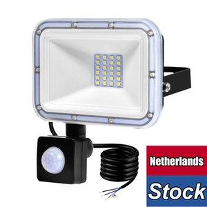 Led Motion Sensor Flood Light Outdoor Floodlight Pir Sensitive Security Lights Wall Fixture Lamps Waterproof for Garage Yard Patio Pathway Porch Entryways