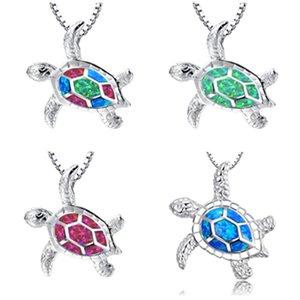 Gioielli del pendente della tartaruga della collana opale per la donna